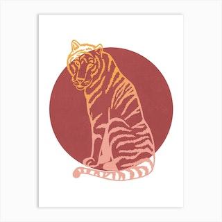 Tiger Sun Art Print