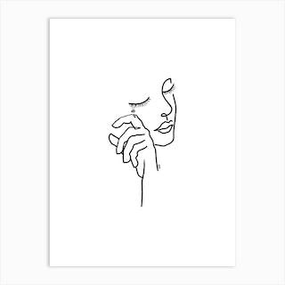 Dont Cry Art Print