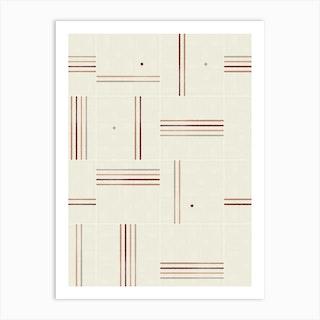 Minimal Rustic Tiles 01 Art Print
