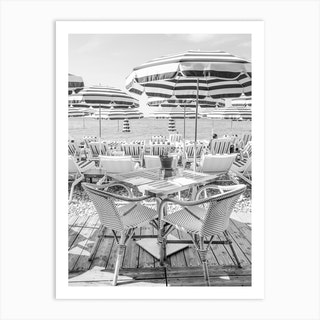 Monochrome Riviera View Art Print