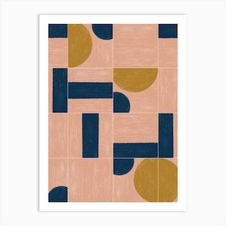 Painted Wall Tiles 03 Art Print