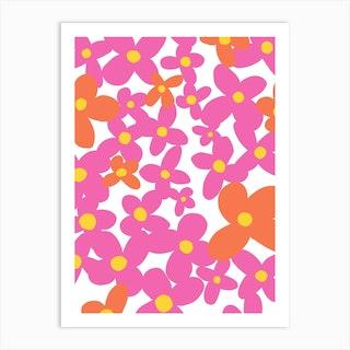 Petals In Pink Art Print
