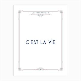 Mots Francais C Est La Vie Art Print