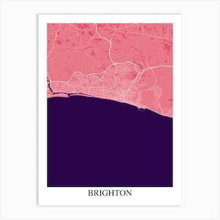 Brighton Pink Purple Art Print