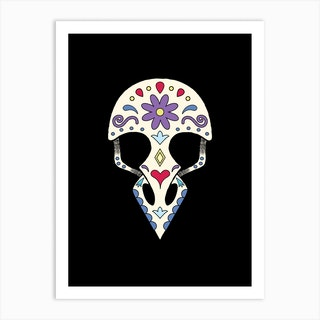Bird Sugar Skull Art Print
