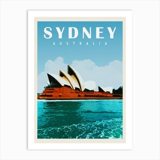 Sydney Australia Travel Poster Art Print