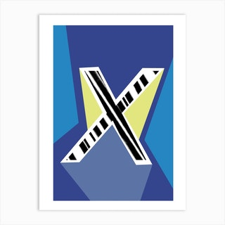 X Geometric Font Art Print