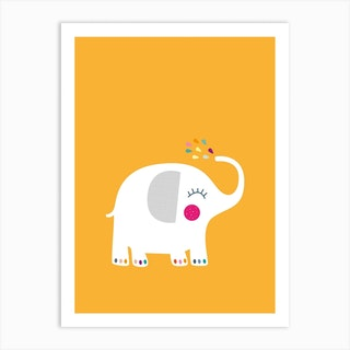 Rainbow Elephant Art Print