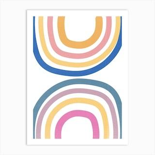Double Upside Down Rainbow Art Print