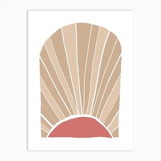 Boho Pink Sun Art Print