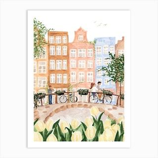 Amsterdam In The Spring By Sabina Fenn Art Print