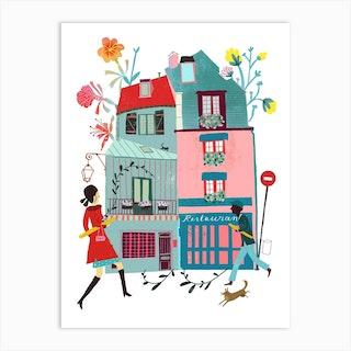 Paris Baguette Art Print