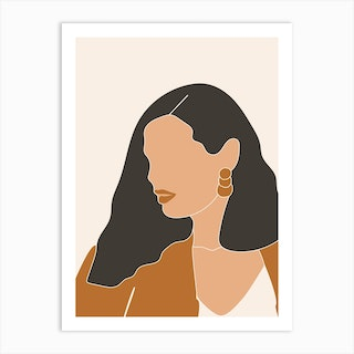 Abstract Lady One Art Print