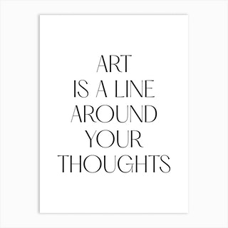 Art Is A Line Around Your Thoughts Klimt Quote Art Print