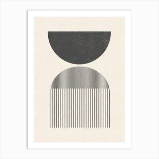 Woodblock Shapes And Lines Art Print
