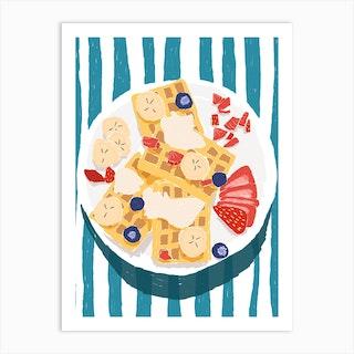 Strawberry Waffles Art Print