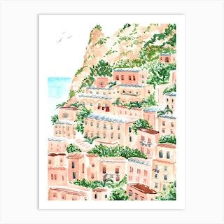 Italian Shore Art Print