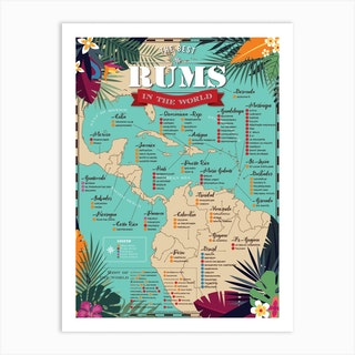 Best Rums In The World Art Print