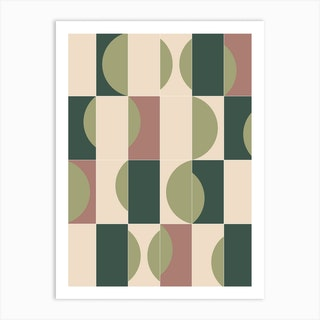 Gardentiles 01 Art Print