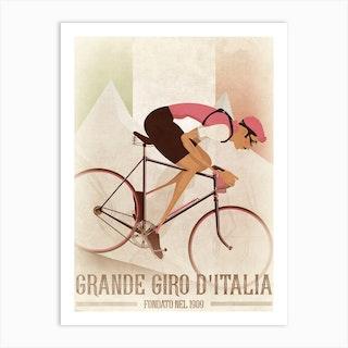 Vintage Style Giro Flag Art Print