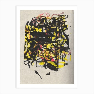 Yellow And Black Collage 2 Art Print