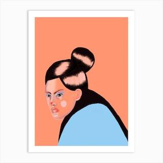 Asian Girl Art Print