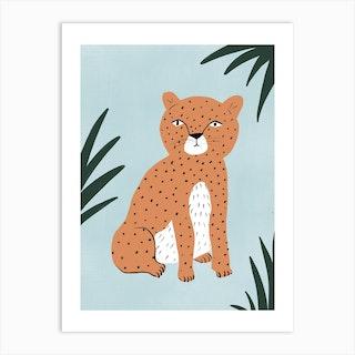Mini Leopard Art Print