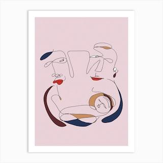 Newborn Pink Art Print