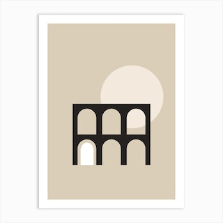 Minimal Landscape Neutral Art Print