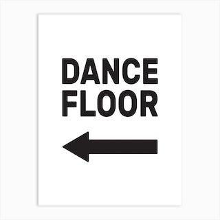 Dance Floor Left Art Print