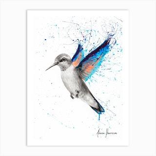 Azul Hummingbird Art Print