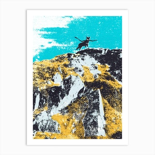 Dog On The Mountain Art Print