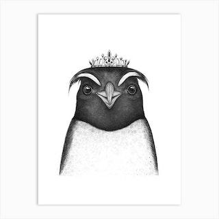 The Queen Penguin Art Print