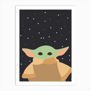 Star Wars Baby Yoda Art Print