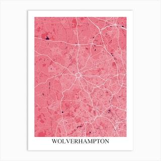 Wolverhampton Pink Purple Art Print