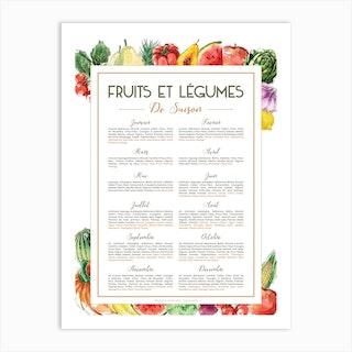 Fruits Et Legumes De Saison Art Print