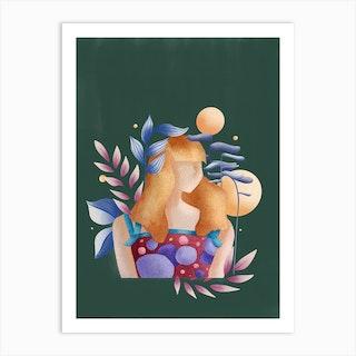 Pond Lady Art Print