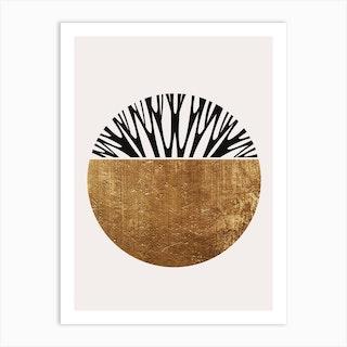 Abstractika Gold Art Print