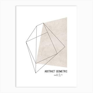 Abstract Geometric 1 Art Print