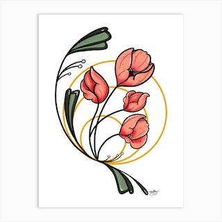 Floral Dawn Art Print
