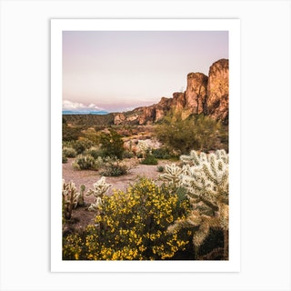 Desert Mountain Sunset Art Print