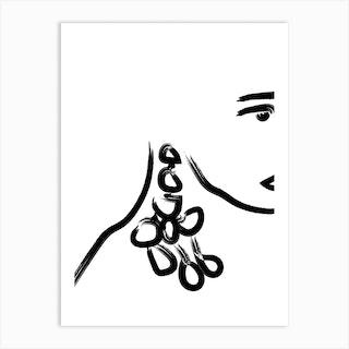 Sole In White Art Print