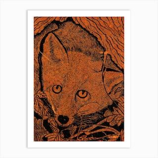 Burning Bright Fox Art Print