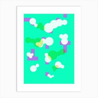 Hackney Swimming Pool Neongreen Art Print