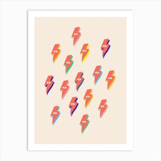 Ziggy Bowie Eye Pattern  Art Print