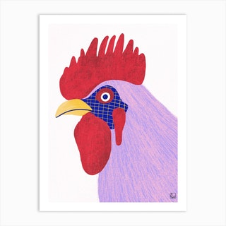 Culeca Hen With Purple Tones Art Print
