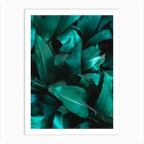 Green Plant Structure Art Print