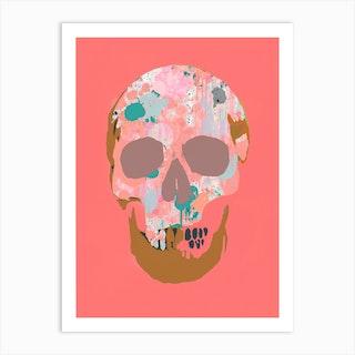 Splatter Skull Iii Art Print