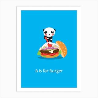 Burger Panda Art Print