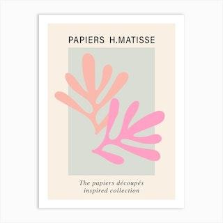 Matisse Cutout Pink Poster Wall Art Art Print
